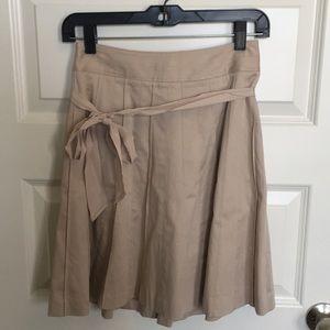 Pleated khaki skirt